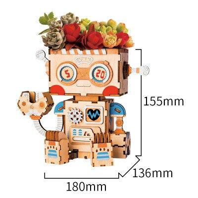 Новая идея подарка мультяшный горшок серии 3D паззлы деревянные DIY головоломки дизайн замочки украшение комнаты милый подарок обучающий инструмент - Цвет: Черный