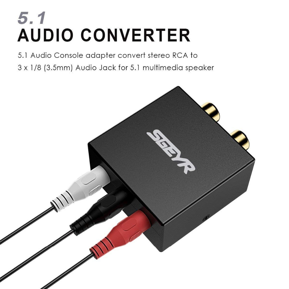Free Shipping Logitech 5.1 Game Console Adapter Convert Rca Plugs To A Single..