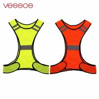 Reflective Vest Security Safety for Night Sport Running Cycling Fluorescent High Visibility
