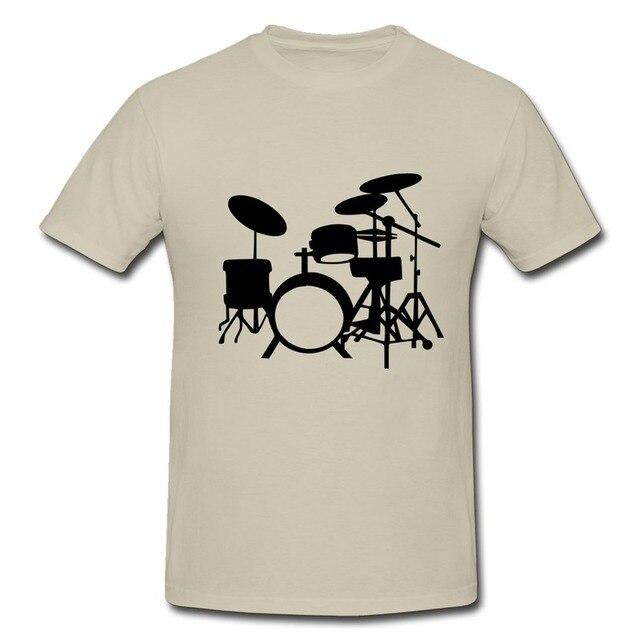 760d3a24 1pcs Free Shipping O-Neck T-Shirt Mans Drum set Design T Shirts for Boy