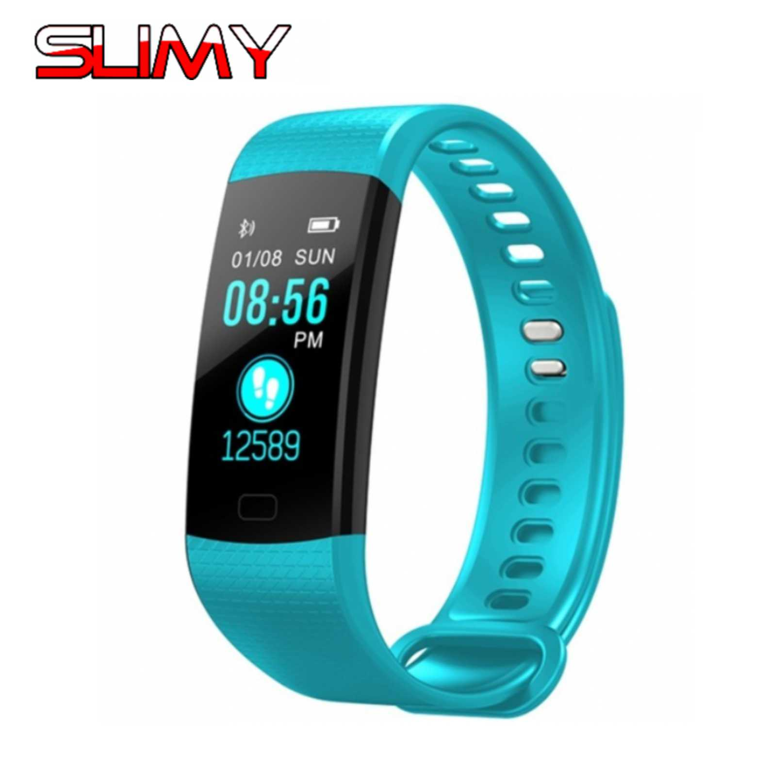Slimy Smart Band Heart Rate Sport Fitness Tracker Watch Y5 Smart Bracelet Color Screen Blood Pressure for IPhone Android Phones