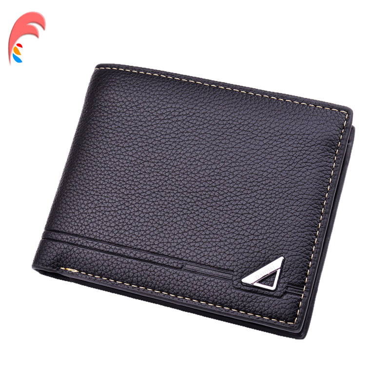 Lot of 5 Italian Style Crocodile Printed Leather Mans Black Trifold Wallet BNWT