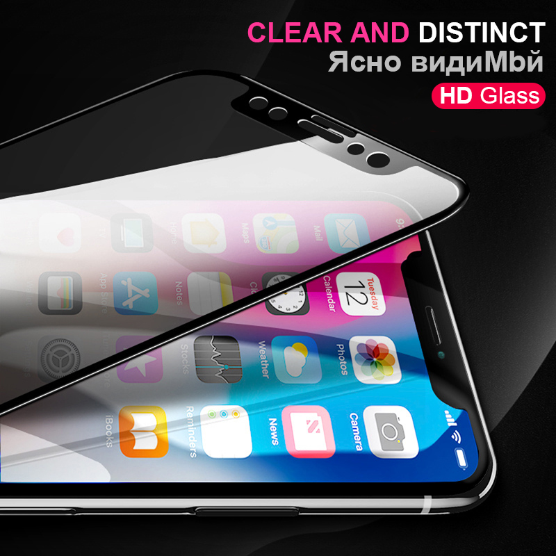 Image 5 - 100 PCS 9D Protective Glass For Iphone X Xs Max Xr 6 S 6s 8 Plus Case Screen Protector On The I Phone 7 8Plus Film Tempered Glas-in Phone Screen Protectors from Cellphones & Telecommunications
