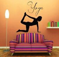 Wall Decals Vinyl Decal Sticker Sport Girl Yoga Studio Gym Bedroom Decor