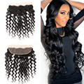 HaloLady 13x4 Ear to Ear Peruvian Lace Frontal Closure Peruvian Loose Deep Wave Frontal Closure Grade 7A Free Part Lace Frontals