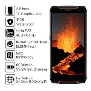 Image 4 - Cubot King Kong 3 IP68 Водонепроницаемый Защитный Телефон NFC 6000 мА/ч, большая Батарея Android 8,1 4 Гб + 64 Гб Тип C FastCharge OctaCore KingKong 3