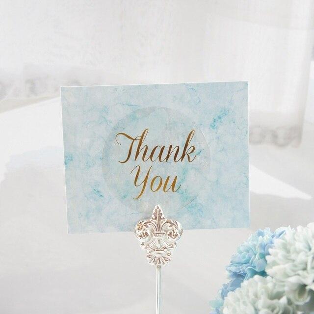 multi use 50pcs mini card blue green marble elegant diy card wedding