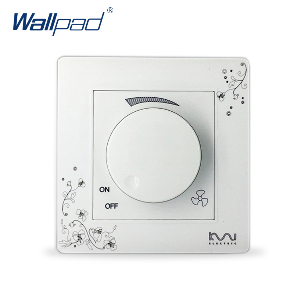 2018 Hot Sale Fan Switch Speed Controller Wallpad Luxury Wall Switch Panel 86*86mm 10A 110~250V 2018 hot sale 6 pin multifunction socket wallpad luxury wall switch panel plug socket 118 72mm 10a 110 250v