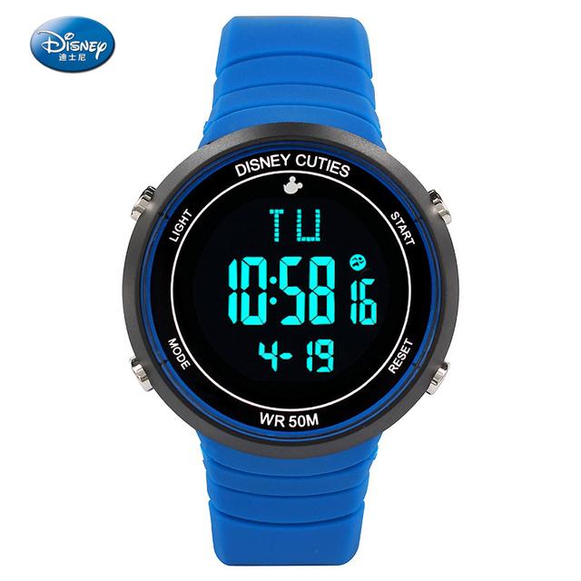 Disney Marca Hombres Deportes Relojes LED Digital Reloj Militar Hombres Moda Casual Electrónica Relojes Reloj de Pulsera Caliente