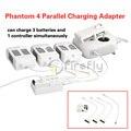 Батареи и Пульт дистанционного управления Параллельный Зарядное Устройство Адаптер 4 в 1 Зарядное Устройство Аксессуар для DJI Phantom 4