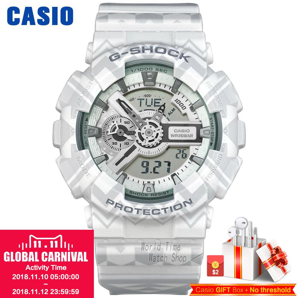 Casio watch Waterproof shockproof anti - magnetic movement male watch electronic form GA-110TP-7A GA-110WG-7A casio casio ga 110tp 1a