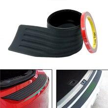 Car Styling 90/105cm Rubber Rear Bumper Guard Protector Trunk Sill Plate Trim Cover Pad FOR BMW M F20 E87 E91 X5 E53 E60 F30 E46 цена