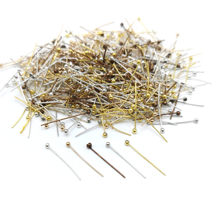 Brinco de ponta 100 5 tamanhos de ouro, prata kc ouro branco k vermelho cobre cabeça de pinos agulhas para miçangas jóias enfeite de descobertos