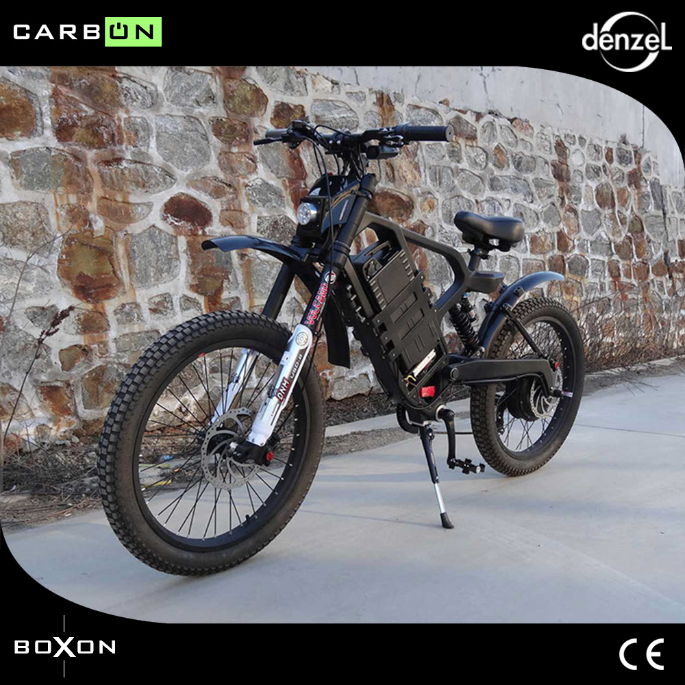 Electric motorcycles Carbon fiber electric mountain bike 60v lithium battery rear 2000w motor drive LCD smart