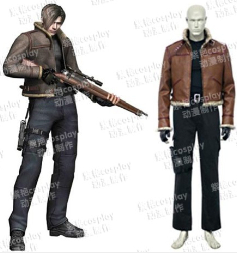 Cosplay Costume Resident Evil Leon Kennedy Halloween leather jacket whole set  sc 1 st  AliExpress.com & Cosplay Costume Resident Evil Leon Kennedy Halloween leather jacket ...