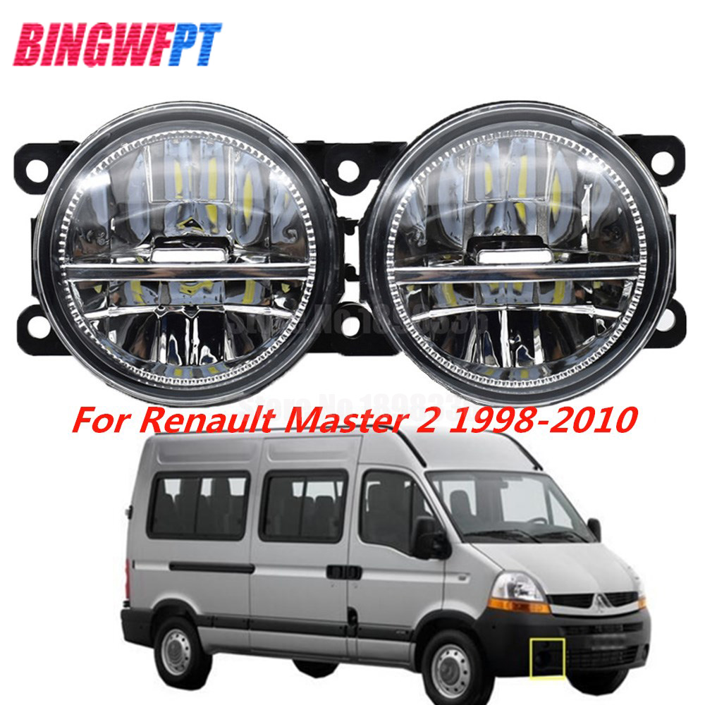 1Pair High Quality Supre Bright White Fog Light LED Fog Lamp For Renault Master 2 1998-2010