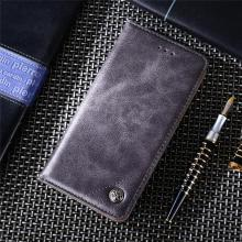 For Cover Oneplus 6 Case Triangle Route Leather Flip Wallet Bag for