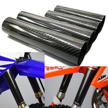 Front Frok Guard WRAPS Protectors Upper & Lower For KTM 125-450 SX/SXF/EXC/ EXCF/XCF/XCW 2008-2017 Full Carbon