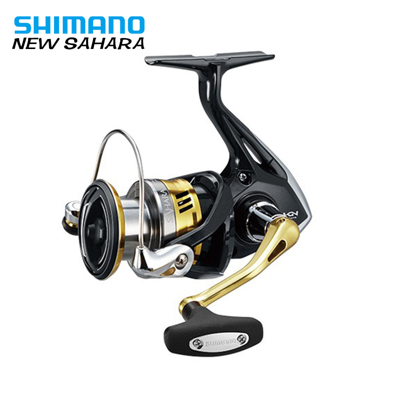 SHIMANO SAHARA 1000 Spinning Fishing Reel 4+1BB with Larger Spool Capacity 3kg Max Drag Metal Spool Spinning Fishing Reels 100% original shimano alivio spinning fishing reel 1 1bb with original nylon fishing line ar c spool rigid body fishing reels