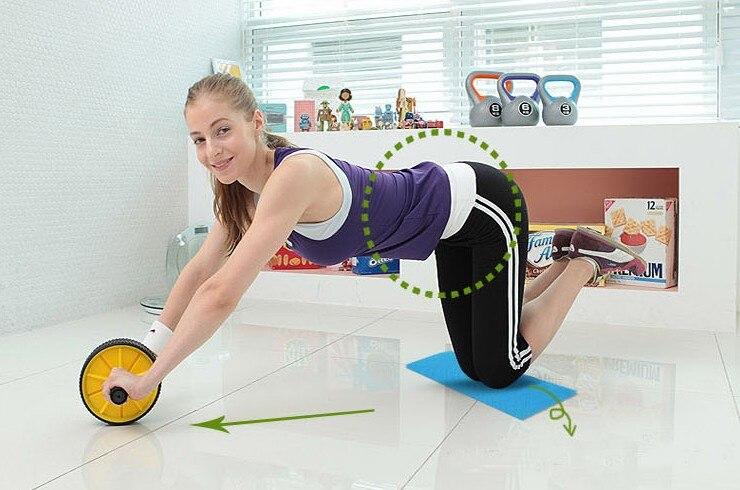 Abdominal wheel fitness wheel ABS wheel thin waist round waist wheel Abdominal round AB ROLLER Reduce weight ABDOMEN training