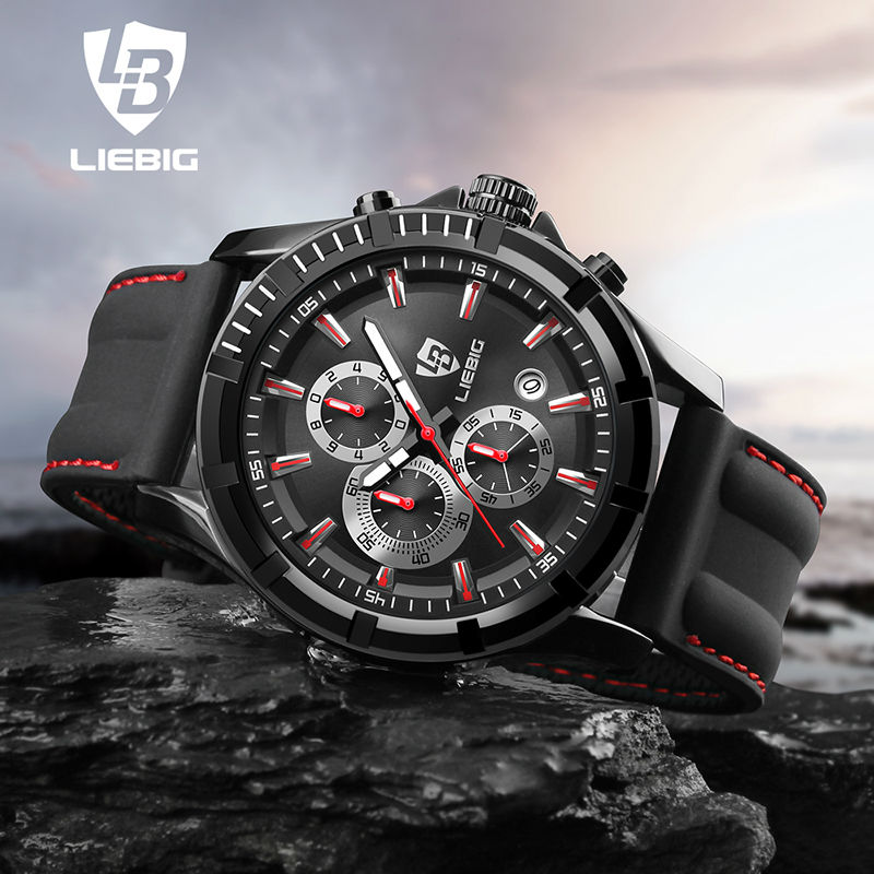 LIEBIG Men Sports Watches Outdoor Waterproof Military Wristwatches Fashion Quartz Watch Calendar Relogio Masculino SX161016
