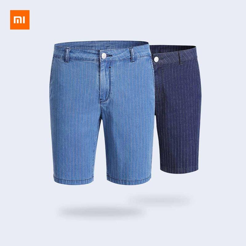 Xiaomi Mijia Youpin Cotton Striped Casual Denim Shorts Cotton Smith Business casual version Comfortable cotton
