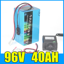 96V Electric Scooter 40Ah Lithium ion battery pack 96v 4000W Electric Bicycle lithium Battery with BMS Charger