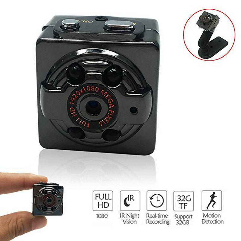 (1 Set) SQ8 Mini Camera Full HD 1080P Night Recorder Infrared vision motion sensor digital DV small mini camcorder DV camera hd mini dv camera black
