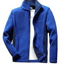 Anbican moda erkek bahar ceket 2019 marka yeni standı yaka rahat ceket erkekler termal polar ceket büyük boy 6XL 7XL 8XL 9XL