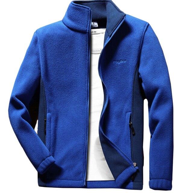 Мужская теплая флисовая куртка Anbican, повседневная весенняя куртка с воротником стойкой, пальто большого размера 6XL, 7XL, 8XL, 9XL, 2019