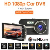 VODOOL SE002 HD Car DVR Camera 4 inch Screen Dashboard Car Dash Camera WDR Night Vision Single/Dual Lens Car Driving Recorder