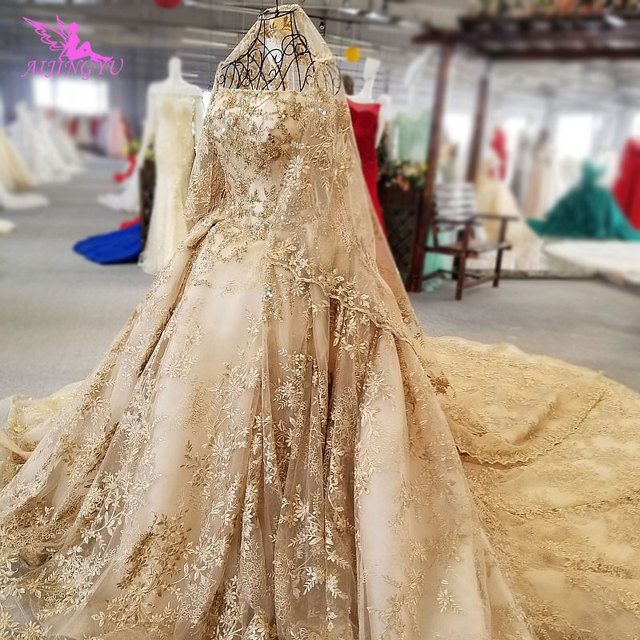 AIJINGYU China Wedding Dress Couture Gown White Surmount United States Shop Online 2021 Gowns Buy Wedding Dresses In Dubai