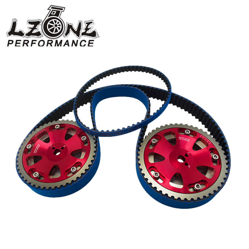 цена LZONE RACING - HNBR Racing Timing Belt + Balance + Aluminum Cam Gear FOR EVO 1-9 4G63 JR-TB1007Z+6538R
