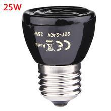 20 Вт 50 Вт 75 Вт 100 Вт E27 инфракрасная керамическая лампа для нагрева для черепахи ящерицы Паук свет для рептилии коробка Теплые лампы