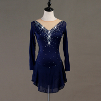 Figure Skating Dress Women's / Girls' Ice Skating Dress Black Spandex, Stretch Yarn High Elasticity Training / Competition B019