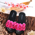 YNB Verão Crianças Meninas Princesa Sapatos Crianças Sandálias Lâminas de PVC com Flor 2017 Moda Chinelos de Praia Sapatos Da Menina das Crianças