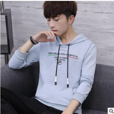 Hot style hooded2018 new long women's long Korea version of loose white autumn winter men's long early qz-91