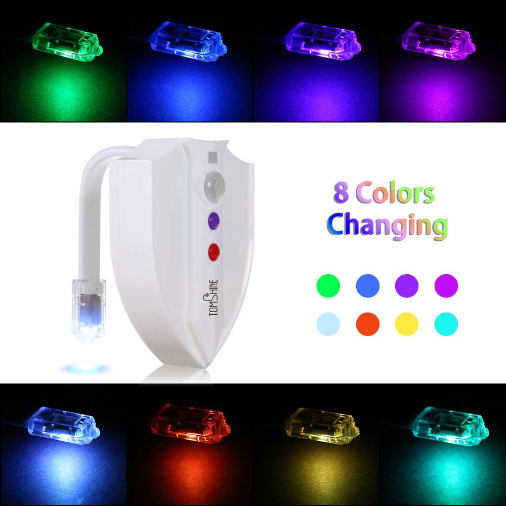 Уф стерилизация Туалет свет Активированный датчик Движения RGB PIR светодиодный ночник на батарейках креативный Туалет подсветка