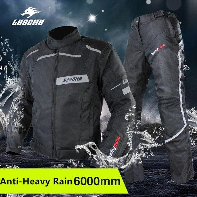 LYSCHY de la motocicleta chaqueta Moto chaqueta pantalón impermeable de La  protectora del cuerpo de la 6a260621b833a