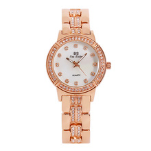 Women Gold Watches Waterproof Women Luxury Full Diamond Rose Gold Dress Watch Lady Quartz Watch for Woman Bracelet Wrist Watch attractive 2017 new design gold and sliver lady diamond bracelet watch mirror luxury quartz alloy watch high quality my 10