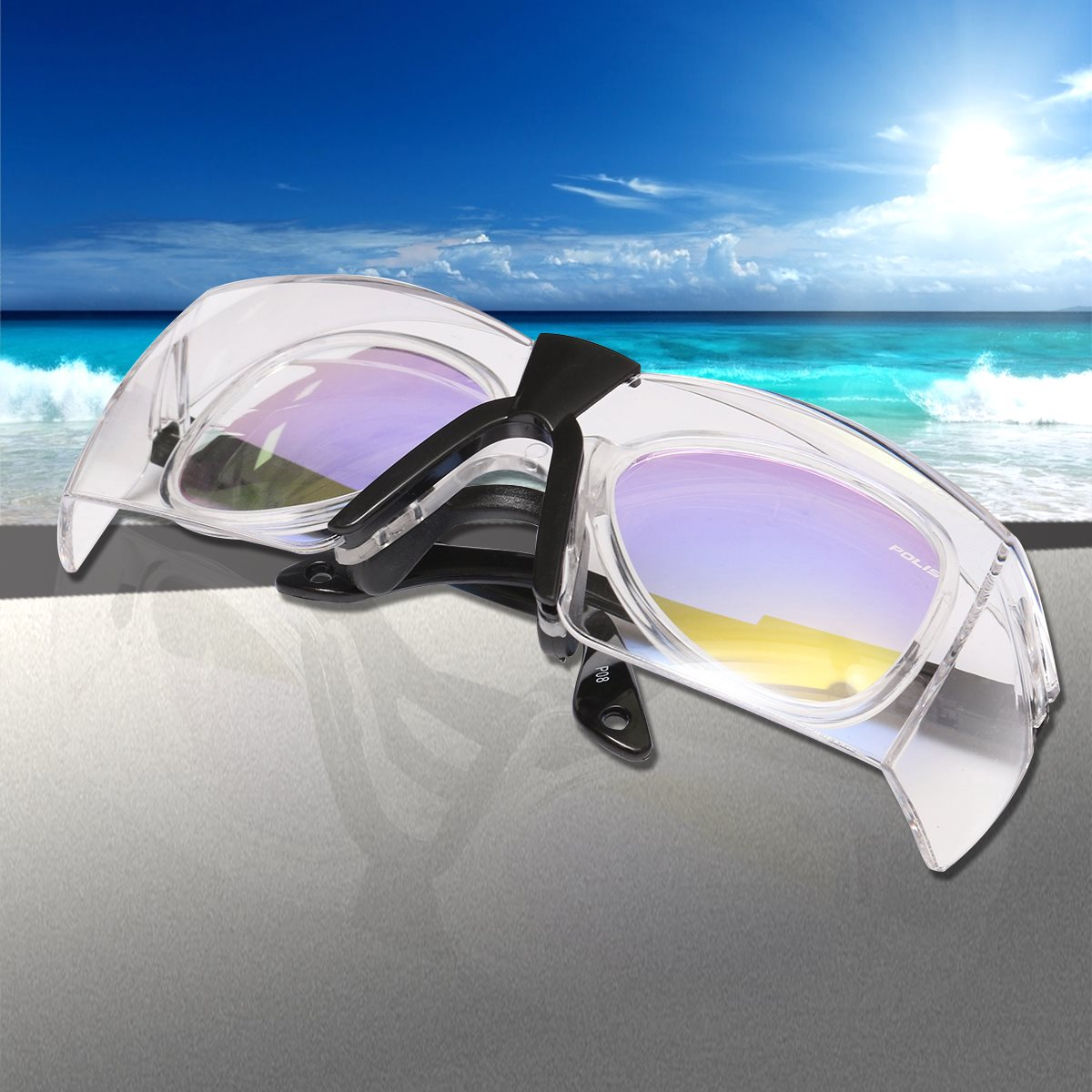 Occhiali Professionali occhiali di Protezione Laser CO2 10600nm Occhiali Occhiali Occhiali A doppio Strato con un panno Occhiali Caso