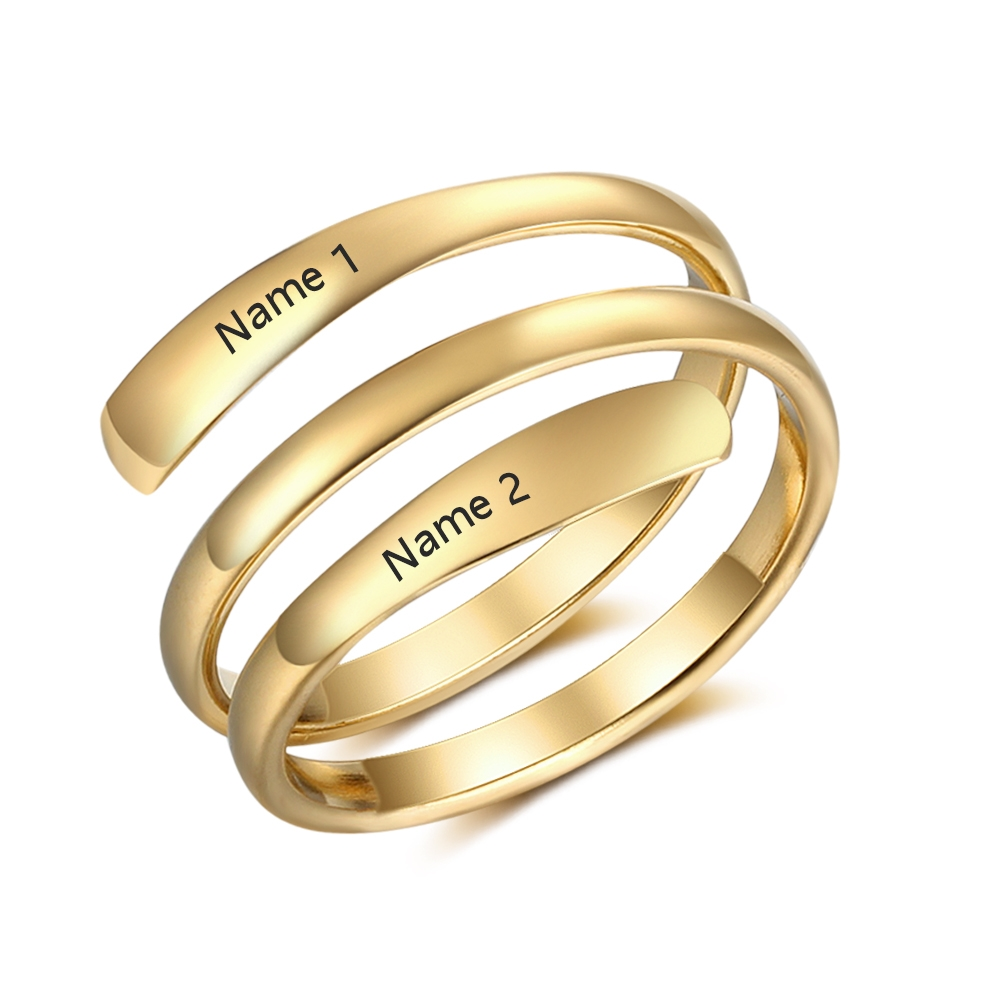 Jewelry Name-Rings Engagement Stainless-Steel Personalized Gift Classic Fashion Women