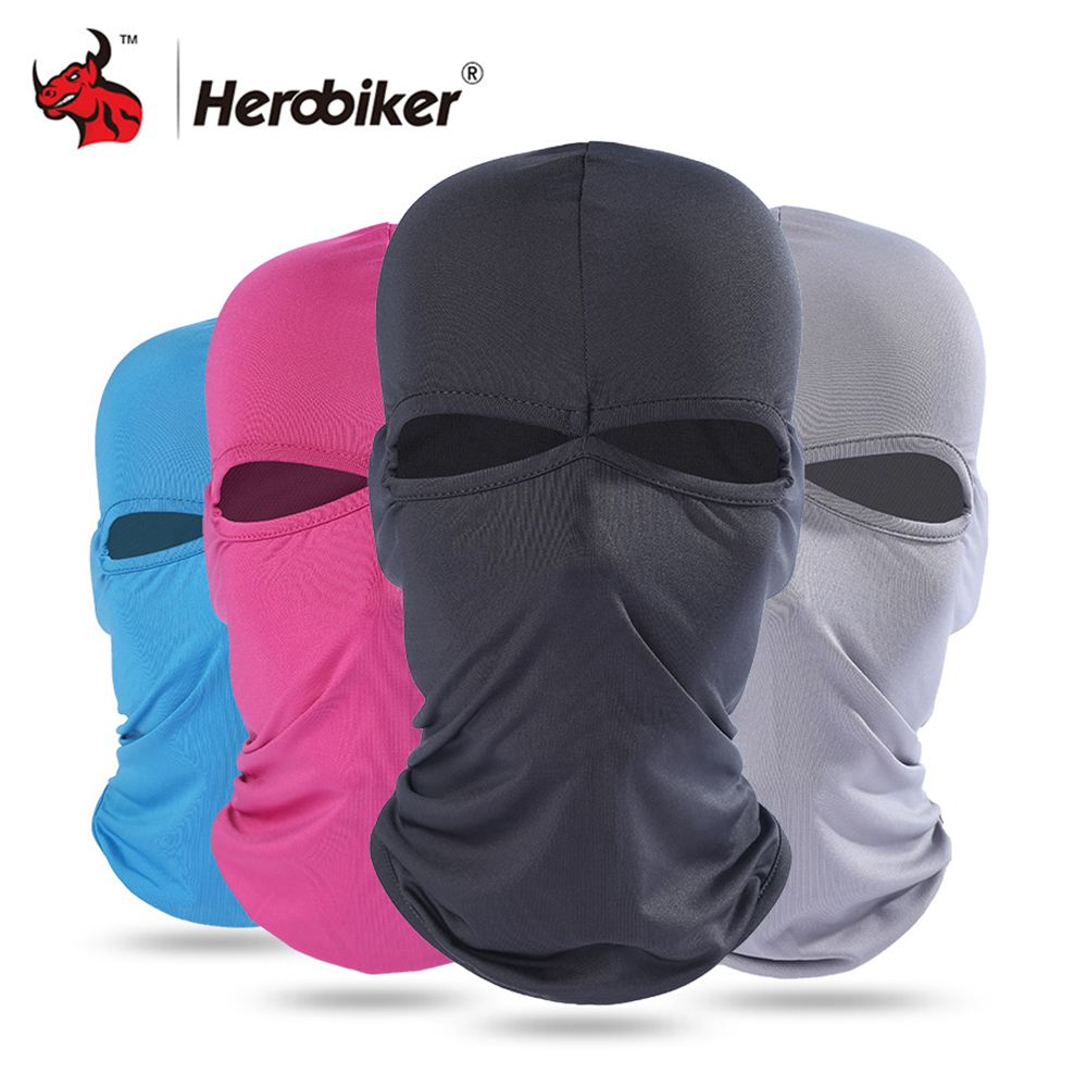 HEROBIKER Motorcycle Face Mask Unisex Summer Breathable Balaclava Moto Mask Ski Motorcycle Paintball Tactical Face Shield Hood все цены