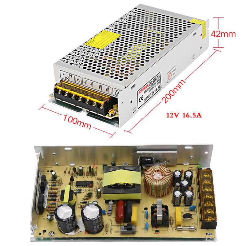 Ac dc 220 ボルトに DC12v 1A 2A 3A 5A 6A 8.5A 10A 16.5A 20A 30A 60A 照明トランスアダプタ LED ストリップライトのスイッチ電源