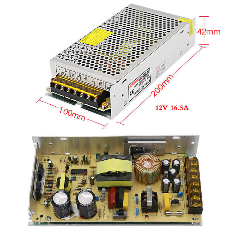 ac dc 220v to DC12v 1A 2A 3A 5A 6A 8.5A 10A 16.5A 20A 30A 60A lighting Transformers Adapter LED Strip light Switch power supply