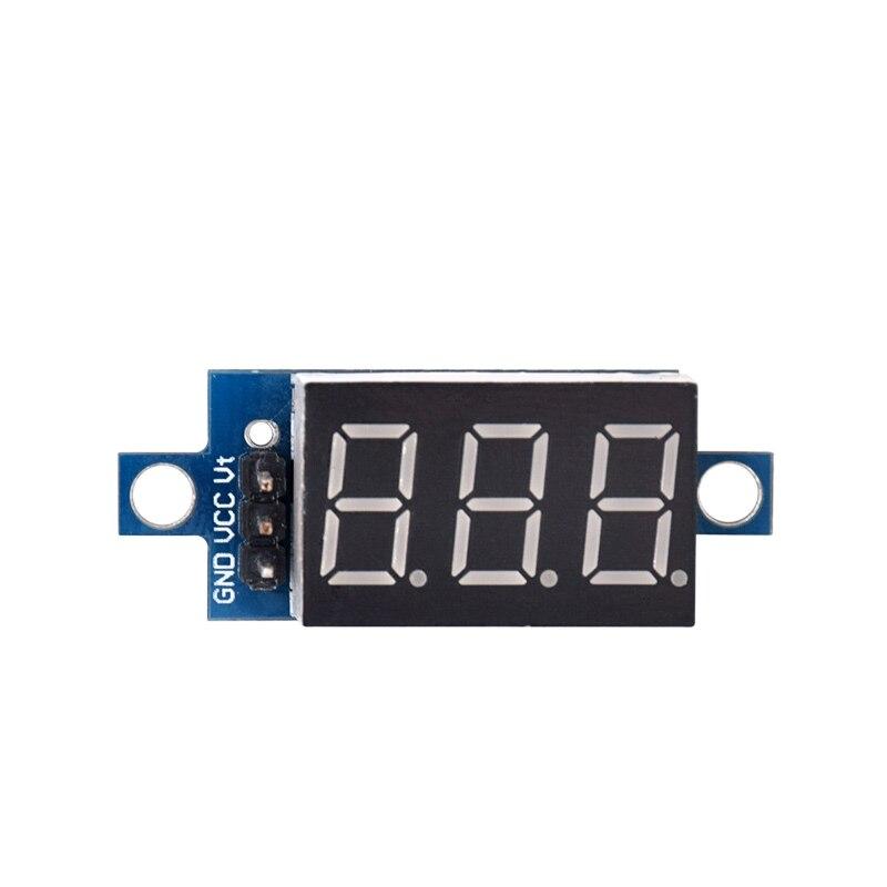 Direct Current DC 0-100V 0.36 Inch Red LED Digital Display Voltmeter Panel