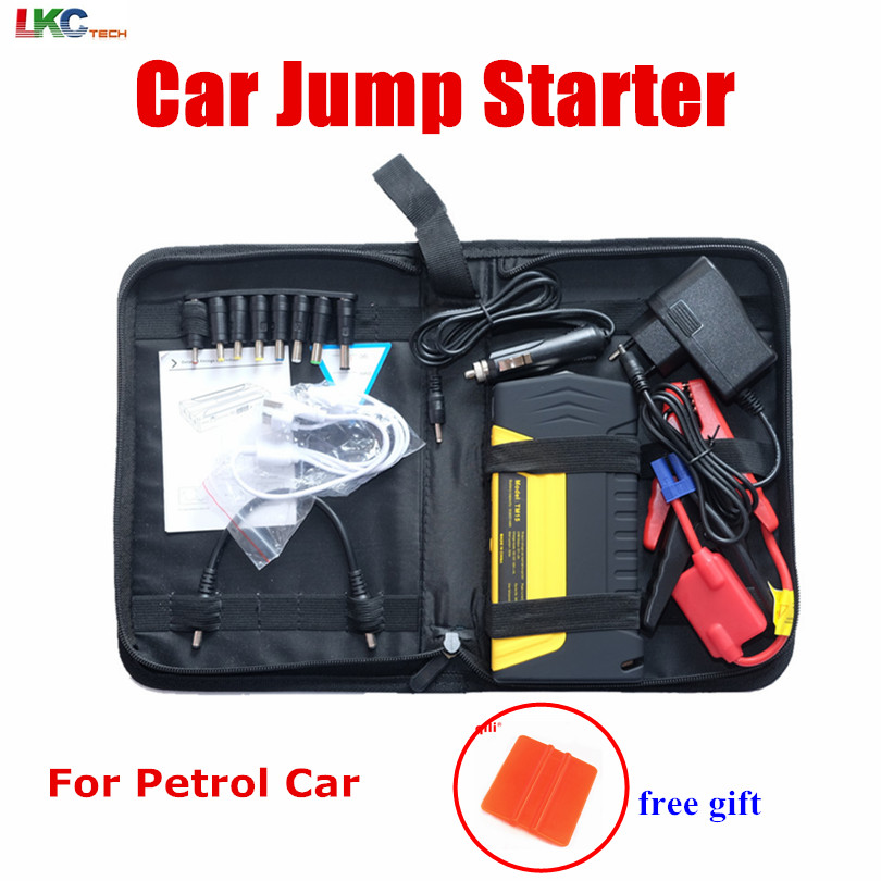 High Quality new bag Car Jump starter 50800mah Emergency Starter 12V Portable Mini Engine Booster car power Bank booster Charger newest 50800mah 12v car emergency start power bank vehicle jump starter booster portable current battery charger three light hot