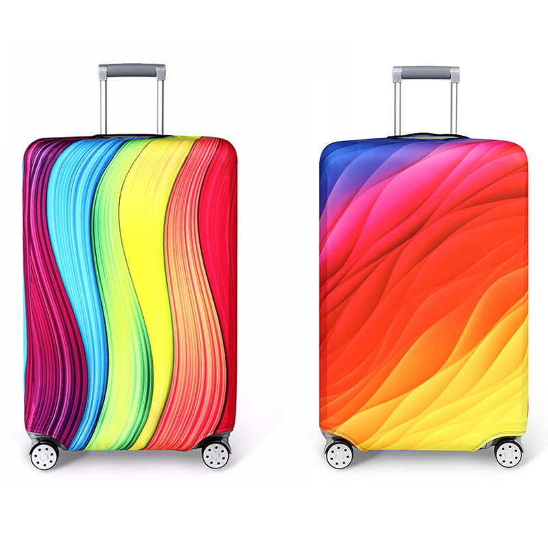 New Travel On Road Thickening Elastic Color Luggage Protective Cover,for 18-32inch Trolley Suitcase Case Dust Cover Accessor