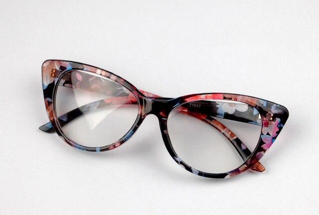 10 Colors Ladies Women Vintage Cat Eye Design Full Rim Clear Lens ...