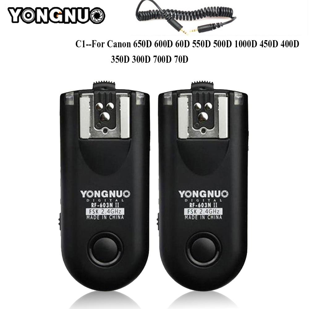 YONGNUO rf-II C1 Radio Wireless Remote Flash Trigger per Canon 1100D 1000D 600D 700D 650D 100D 550D 500D 450D 400D 350D 300D